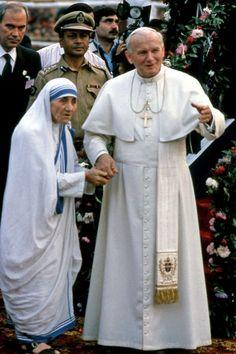 Pope John Paul ll & Mother Theresa