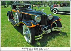 In its day, the perfect auto for a rake or a man about the town.  1930 Cord L-29 Cabriolet.