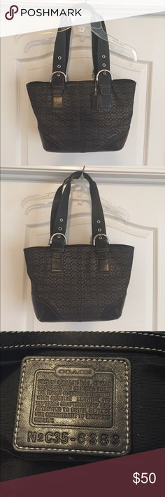 Coach Signature Authentic Tote Signature Authentic Coach Tote . Broken closure zipper. Needs Deep Cleaning Coach Bags Totes