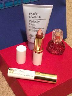 4-Piece Estee Lauder Makeup Bag Cosmetic Gift Set Beauty Sample Kit #EsteeLauder
