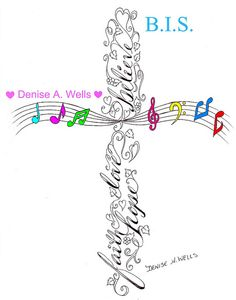 Cross Tattoo Design by Denise A. Wells by ♥Denise A. Wells♥, via Flickr