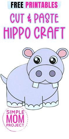 Here's a fun way for your toddlers & preschoolers to Learn the Letter H with this free printable Hippopotamus template. Whether your little ones love jungle animals or they're looking for an art activity, this printable Hippo craft for kids is the most fun they'll have with a cut and paste craft so grab your free printable hippopotamus craft template today! Safari Animal Crafts, Jungle Crafts, Zoo Crafts, Animal Crafts For Kids, Easy Craft Projects, Easy Diy Crafts, Crafts To Do, Printable Crafts, Free Printables