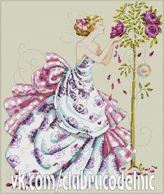 "ru / - Альбом ""Roses of Provence"" 123 Cross Stitch, Cross Stitch Fairy, Wedding Cross Stitch, Counted Cross Stitch Patterns, Cross Stitch Charts, Cross Stitch Embroidery, Hand Embroidery, Le Point, Cross Stitching"