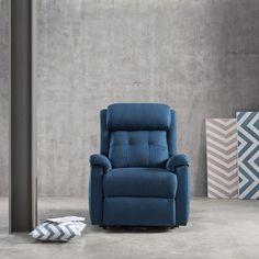 Sillón Relax de Diseño ELIOT.  El modelo ELIOT es un Relax especialmente cómodo, su respaldo de fibra de alta calidad y su cabecera hacen que sea muy ergonómico. También los reposabrazos con goma extra suave de alta calidad dan al usuario un máximo confort. El modelo Eliot es un sillón relax para disfrutar...