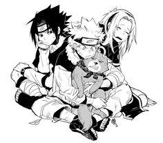 Anime: Naruto Personagens: Uzumaki Naruto, Haruno Sakura e Uchiha Sasuke Naruto And Sasuke, Naruto Team 7, Naruto Uzumaki, Anime Naruto, Naruto Family, Naruto Fan Art, Naruto Sasuke Sakura, Sarada Uchiha, Naruto Cute