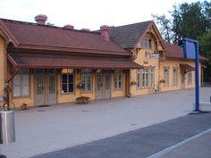 Pretty train station in Salo, Finland