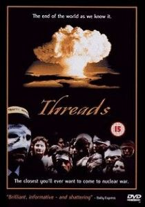 Is there anything more terrifying that the aftermath of the global thermonuclear war? Threads is a British television drama produced by the BBC in 1984. Written by Barry Hines and directed by Mick Jackson, it is a documentary-style account of a nuclear war and its effects on the city of Sheffield in northern England. Make no mistake about it – this film is relentlessly grim and one of the most disturbing films I have ever seen. You'll want to take a long hot shower once you're done watching.
