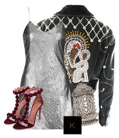 """""""Untitled #3486"""" by kimberlythestylist ❤ liked on Polyvore featuring Versace and Topshop"""