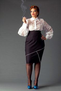 JIBRI High Waist Geometric Binding Pencil Skirt — JIBRI