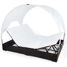 TecTake Rattan Day Bed Sun Canopy Roof Lounger Garden Furniture Patio Terrace Ratten New online kaufen bei WOONIO Canopy Over Bed, Window Canopy, Baby Canopy, Canopy Curtains, Backyard Canopy, Canopy Bedroom, Patio Canopy, Fabric Canopy, Canopy Outdoor