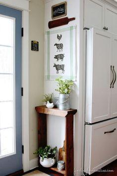 Kitchen Decorating Ideas: DIY Butcher Sign Tea Towel - Finding Home