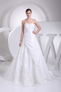 Sweetheart one piece wedding dress with lace-up back