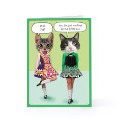 Dancing Irish Cats - St. Patrick's Day 3/17 Greeting Card   Hallmark