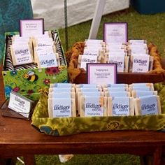soap selling at craft fairs or festivals- love her description of ingredients and comparisons to other named soap brands.