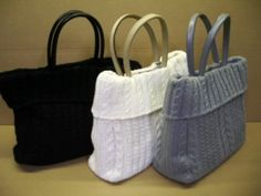 Knitted bags/could be made from recycled materials