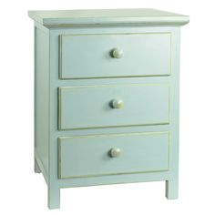 Optimize your small bedroom space with this sturdy dresser, offering ample of space on the top and three spacious drawers below. Handcrafted from pine wood, this piece lets you keep your nighttime essentials close at hand.