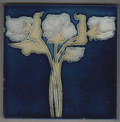 Jugendstil Fliese Kachel Art Nouveau Tile BOIZENBURG 1