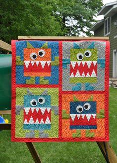 Baby Monster Quilt - soooo sweet