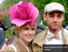 Paper rose flower fascinator hat from House That Lars Built/Etsy