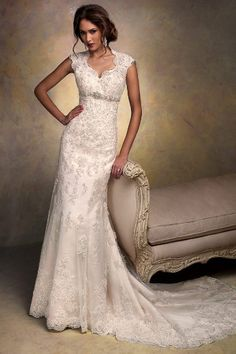 Embellished #wedding dress ideas: http://www.weddingandweddingflowers.co.uk/article/903/lookbook-embellished-wedding-dresses