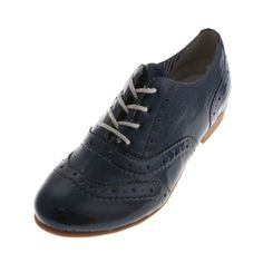 Remonte R4809 14 Winona Womens Ladies Patent Brogue Blue Shoe - £65.00 - Top quality Remonte Dorndorf footwear from Barnets Shoes