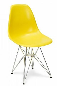 RETRO EAMES INSPIRED DSR 'EIFFEL' LOUNGE DINING CHAIR - YELLOW by Bentley Retro, http://www.amazon.co.uk/dp/B00AHC6H12/ref=cm_sw_r_pi_dp_3jhZsb04F1Z9R