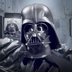 Selfie depois da batalha faz bem pro vader