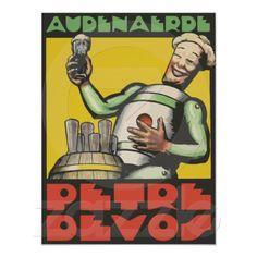 Art Deco style Belgian beer advertising Poster (remake)