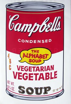 Bid now on Vegetarian Vegetable (from Campbell's Soup II) by Andy Warhol. View a wide Variety of artworks by Andy Warhol, now available for sale on artnet Auctions. Andy Warhol Prints, Warhol Paintings, Andy Warhol Museum, Andy Warhol Art, Art Paintings, Art Pop, Andy Warhol Bilder, Sopa Campbell, Iphone 5c