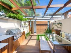 Outdoor living design with bbq area from a real Australian home - Outdoor Living photo 17042781 Australian Bbq, Australian Homes, Outdoor Spaces, Outdoor Living, Outdoor Decor, Rooftop Deck, Bbq Area, Pergola, New Homes