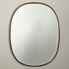 Buy John Lewis Oval Organic Brass Mirror, Gold Online at johnlewis.com, £95, H60cm, W27cm
