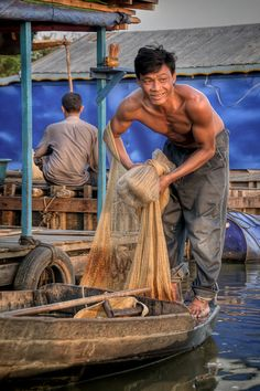 Fisherman on the Tonlé Sap Cambodia