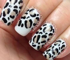 Nail Art How To Tutorial: Snow Leopard Print Nails, Ohmygoshpolish | NailIt! Magazine