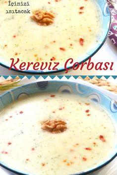 Kremalı Tadında Muhteşem Kereviz Çorbası Tarifi nasıl yapılır? 454 kişinin defterindeki bu tarifin resimli anlatımı ve deneyenlerin fotoğrafları burada. Yazar: Yeliz'in Tatlı Mutfağı Wie Macht Man, Tasty, Yummy Food, Turkish Recipes, Soup And Salad, Cheeseburger Chowder, Side Dishes, Oatmeal, Food And Drink