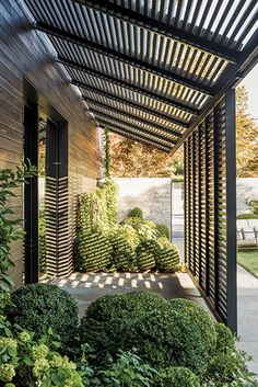 The wooden pergola is a good solution to add beauty to your garden. If you are not ready to spend thousands of dollars for building a cozy pergola then you may devise new strategies of trying out something different so that you can re Outdoor Pergola, Outdoor Rooms, Backyard Patio, Backyard Landscaping, Outdoor Living, Outdoor Stone, Outdoor Patios, Modern Pergola, Pergola Kits