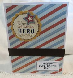 Father's Day Card Handmade Retro Stripes Father You by luvncrafts, $3.00