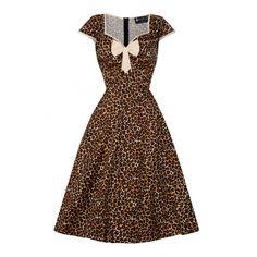 LADY V LONDON Bella Bow Leopard Klänning