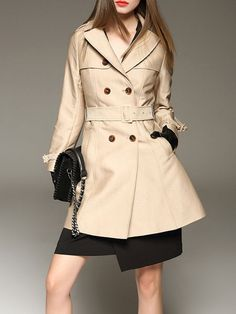 Fashion Buttoned Long/Trench Coat