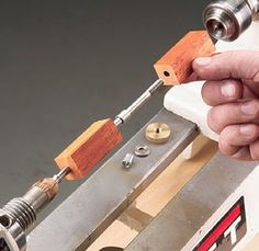 Locking blanks and bushings onto threaded mandrel