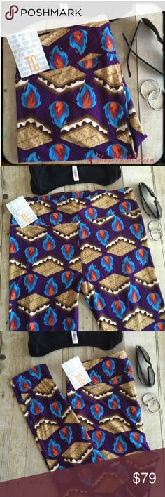 LulaRoe S'MORES SMORES CAMPFIRE Leggings! LulaRoe S'MORES SMORES CAMPFIRE Leggings! SOOOO FUN!!!! DARK PURPLE background with S'MORES & CAMPFIRE All over these leggings! EVERYONE WANTS THESE LEGGINGS! YUMMY!!! Very sought after NEW PRINT! Very soft! These are made in China. * I am not a consultant… I am just a LulaRoe addict and love the hunt to find great prints! Supply + Demand = PRICE {$25 is NOT AN ACCEPTABLE OFFER!} If you don't like the price please move on!  LuLaRoe Pants Leggings