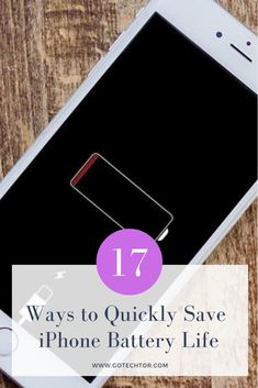 Your iPhone should have enough battery life to last a full day in normal usage. If that's not the case these 17 simple tips and tricks will help you extend your iPhone battery life in no time. Ipad Battery Life, Iphone Information, Battery Hacks, Iphone Life Hacks, Mobile Technology, Tech Gifts, New Ipad, Cool Gadgets, Make It Yourself