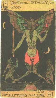 Devil card from Austin Osman Spare's rediscovered tarot.