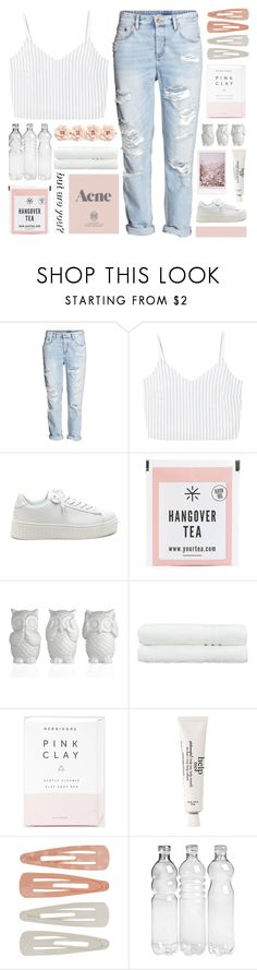 """guess who's back!"" by happinesspeaceandlove ❤ liked on Polyvore featuring H&M, MANGO, Linum Home Textiles, Herbivore, philosophy, Forever 21, Prada, J.Crew and polyvoreeditorial"