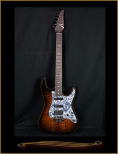 Tom Anderson Drop Top Classic with Koa Top 2016 Black Shaded Edge with Binding…