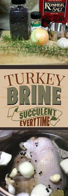 Turkey Brine - Moist, tender, juicy meat every time! Turkey Brine - Moist, tender, juicy meat every time! Smoked Turkey Brine, Easy Turkey Brine, Turkey Marinade, Moist Turkey, Brining Turkey Recipe, Juicy Turkey Recipe, Turkey Recipes, Turkey Dishes, Best Thanksgiving Turkey Recipe
