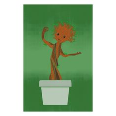 A Design Geek - Minimalist Art Poster of Baby Groot, $14.99 (http://www.adesigngeek.com/minimalist-art-poster-of-baby-groot/)