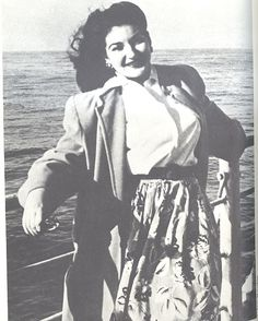 Maria in june 1947 on the ship to Italy