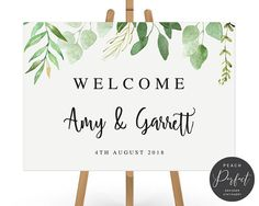 WELCOME TO PEACH PERFECT! Add an elegant touch to your wedding decor with a beautiful, personalised welcome sign. Design: Amy Welcome Sign This listing is for a PRINT YOUR OWN digital file. No physical sign will be shipped. For professional printing, click here -
