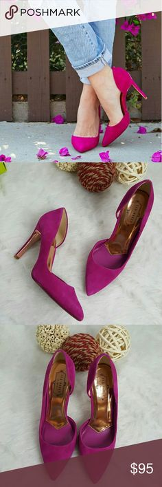 """TED BAKER MESHI D'ORSAY PUMPS PINK Brand new with box. Store display. Fuschia pink. Suede upper, leather lining, synthetic sole. 4"""" heel. So gorgeous. You can wear them dressed up or down. Ted Baker London Shoes Heels"""