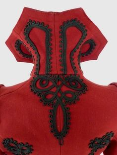 Extravagant Antique Red Jacket, Victorian Jacket, ca. 1898